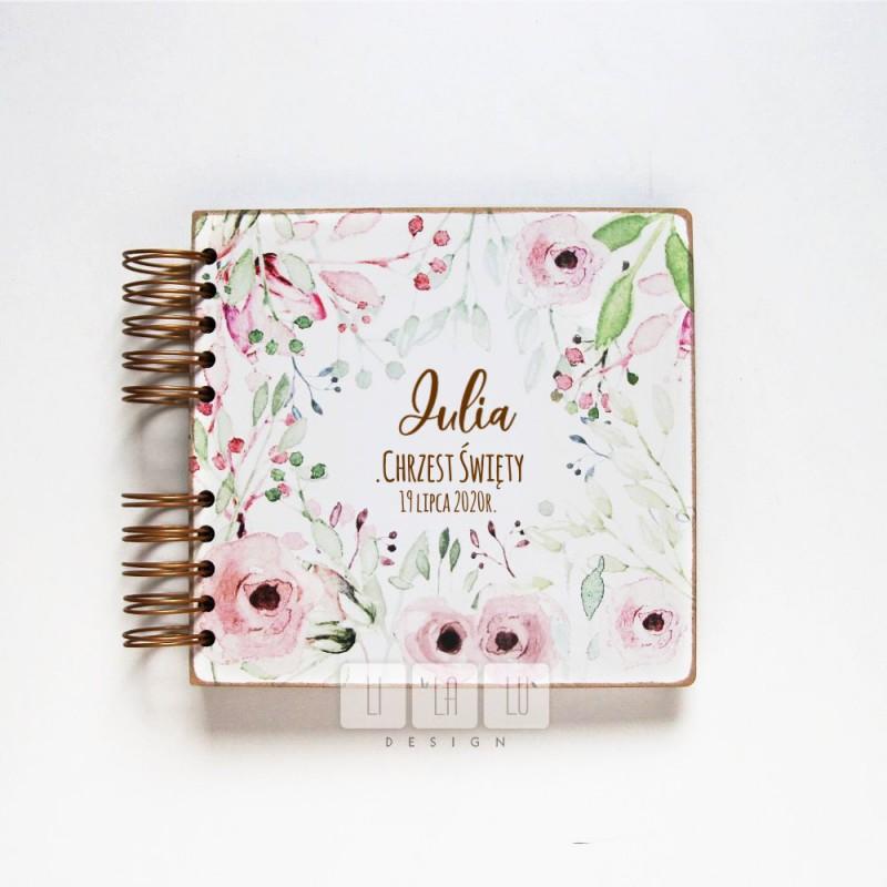 LILALU album kwiaty różowe